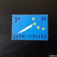 Sellos: FINLANDIA. YVERT 1254. SERIE COMPLETA USADA. ADHESIÓN A LA UNIÓN EUROPEA. Lote 197075916