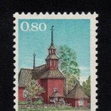 Sellos: FINLANDIA 637** - AÑO 1970 - IGLESIA DE MADERA DE KEURU. Lote 129082735