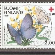 Sellos: FINLANDIA.1990. YT. 1076-1078. MARIPOSAS. Lote 133391202
