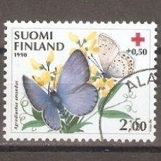 Sellos: FINLANDIA.1990. YT. 1076-1078. MARIPOSAS. Lote 133391206