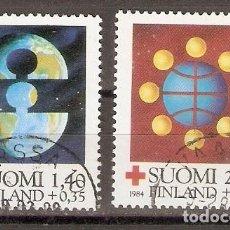 Sellos: FINLANDIA.1984. YT. 910,911. CRUZ ROJA. Lote 133391262