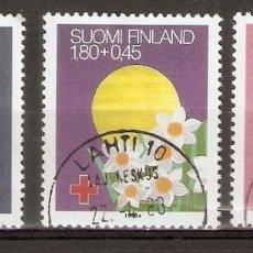 Sellos: FINLANDIA.1988. YT. 1008-1010. CRUZ ROJA. Lote 133391326