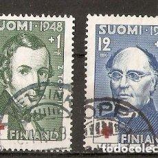 Sellos: FINLANDIA.1948.YV Nº 334,336. Lote 133400774