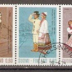 Sellos: FINLANDIA. 1973. YT 697/701. TRAJES REGIONALES. Lote 133459858