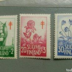 Sellos: 3 SELLOS FINLANDIA 472 / 74 FLORA AÑO 1958 NUEVO. Lote 134786462