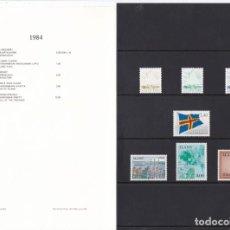 Sellos: CARPETA OFICIAL CON LOS SELLOS DEL AÑO 1984 DE ALAND 1/7 (FINLANDIA). Lote 135445642