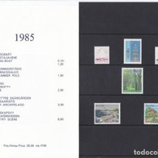 Sellos: CARPETA OFICIAL CON LOS SELLOS DEL AÑO 1985 DE ALAND 8/13 (FINLANDIA). Lote 135446418