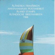 Sellos: CARPETA OFICIAL CON LOS SELLOS DEL AÑO COMPLETO 1988 DE ALAND (FINLANDIA). Lote 135447374