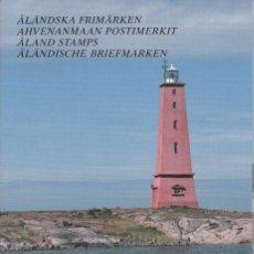 Sellos: CARPETA OFICIAL CON LOS SELLOS DEL AÑO COMPLETO 1992 DE ALAND (FINLANDIA). Lote 135447618