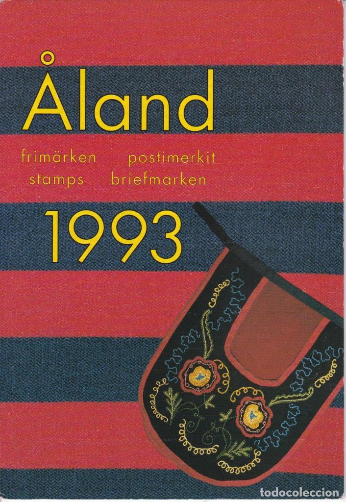 CARPETA OFICIAL CON LOS SELLOS DEL AÑO COMPLETO 1993 DE ALAND (FINLANDIA) (Sellos - Extranjero - Europa - Finlandia)