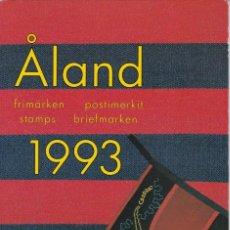 Sellos: CARPETA OFICIAL CON LOS SELLOS DEL AÑO COMPLETO 1993 DE ALAND (FINLANDIA). Lote 135449090