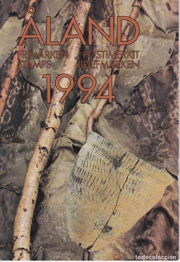CARPETA OFICIAL CON LOS SELLOS DEL AÑO COMPLETO 1994 DE ALAND (FINLANDIA) (Sellos - Extranjero - Europa - Finlandia)