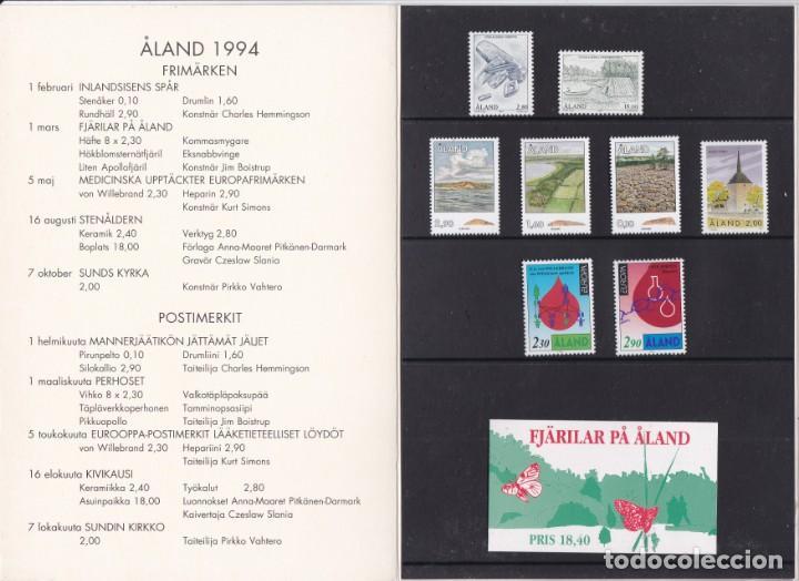 Sellos: CARPETA OFICIAL CON LOS SELLOS DEL AÑO COMPLETO 1994 DE ALAND (FINLANDIA) - Foto 2 - 135449150