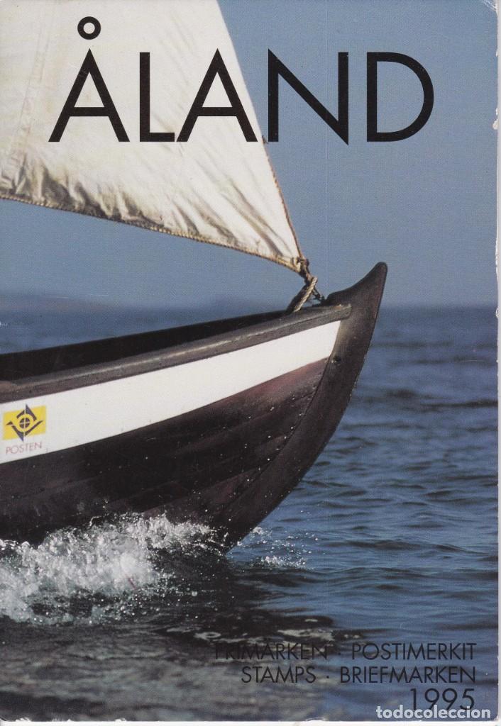 CARPETA OFICIAL CON LOS SELLOS DEL AÑO COMPLETO 1995 DE ALAND (FINLANDIA) (Sellos - Extranjero - Europa - Finlandia)
