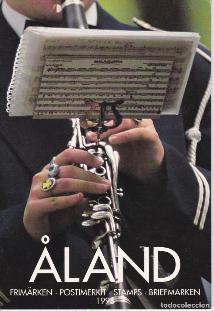 CARPETA OFICIAL CON LOS SELLOS DEL AÑO COMPLETO 1996 DE ALAND (FINLANDIA) (Sellos - Extranjero - Europa - Finlandia)