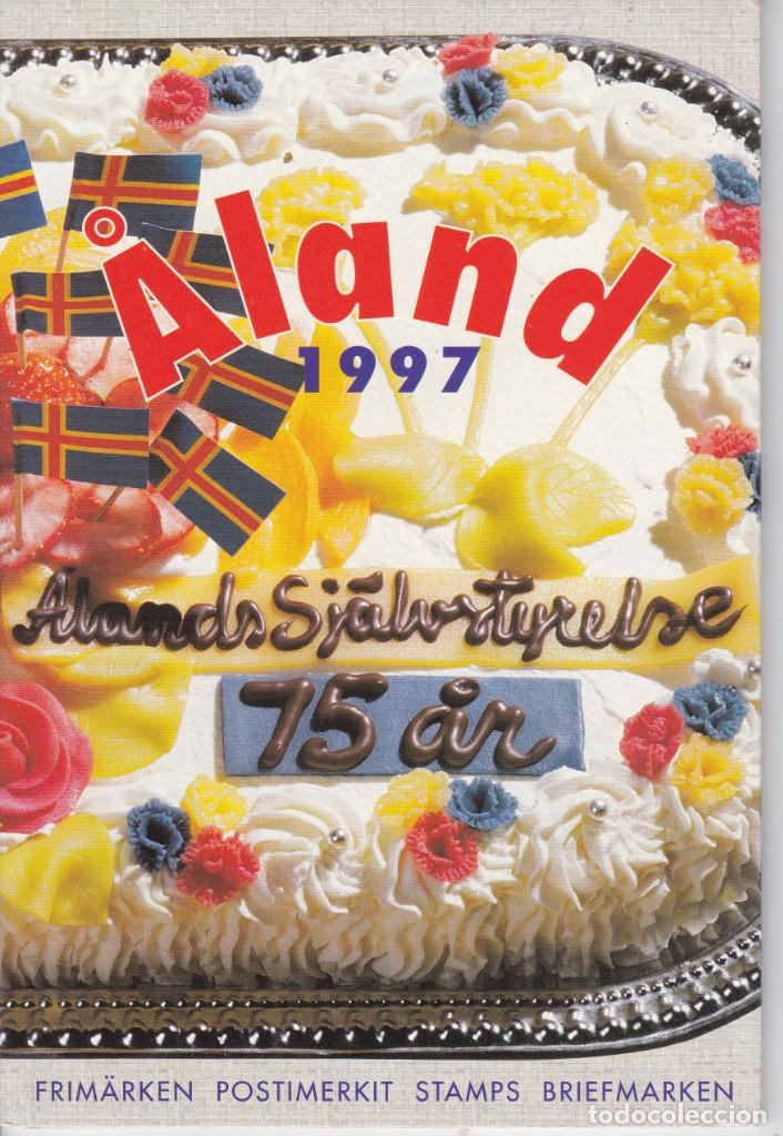 CARPETA OFICIAL CON LOS SELLOS DEL AÑO COMPLETO 1997 DE ALAND (FINLANDIA) (Sellos - Extranjero - Europa - Finlandia)