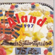 Sellos: CARPETA OFICIAL CON LOS SELLOS DEL AÑO COMPLETO 1997 DE ALAND (FINLANDIA). Lote 135450062