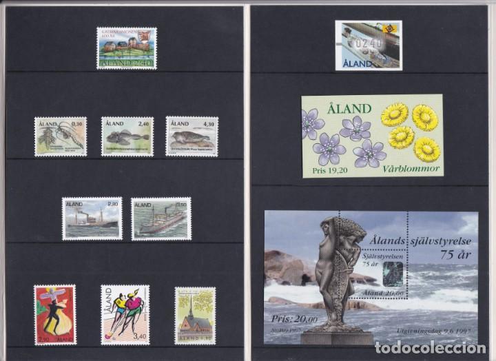 Sellos: CARPETA OFICIAL CON LOS SELLOS DEL AÑO COMPLETO 1997 DE ALAND (FINLANDIA) - Foto 2 - 135450062