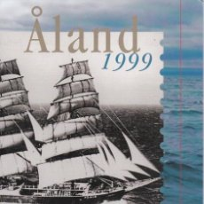 Sellos: CARPETA OFICIAL CON LOS SELLOS DEL AÑO COMPLETO 1999 DE ALAND (FINLANDIA). Lote 135450306