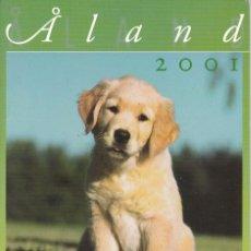 Sellos: CARPETA OFICIAL CON LOS SELLOS DEL AÑO COMPLETO 2001 DE ALAND (FINLANDIA). Lote 135450494