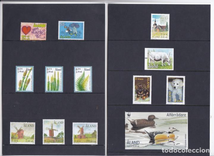 Sellos: CARPETA OFICIAL CON LOS SELLOS DEL AÑO COMPLETO 2001 DE ALAND (FINLANDIA) - Foto 2 - 135450494