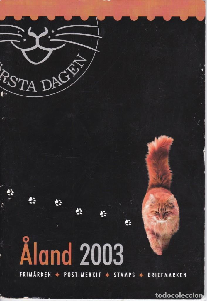 CARPETA OFICIAL CON LOS SELLOS DEL AÑO COMPLETO 2003 DE ALAND (FINLANDIA) (Sellos - Extranjero - Europa - Finlandia)