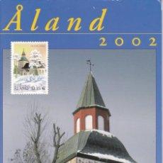 Sellos: CARPETA OFICIAL CON CASI TODOS LOS SELLOS DEL AÑO 2008 DE ALAND (FINLANDIA) NO COMPLETO. Lote 135451210