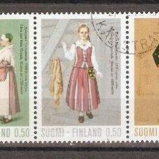 Sellos: FINLANDIA. 1972. YT 674/678. TRAJES REGIONALES. Lote 139636106