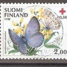 Sellos: FINLANDIA.1990. YT. 1076-1078. MARIPOSAS. Lote 139636174