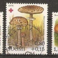 Sellos: FINLANDIA.1980.YV Nº 828/830. SETAS. Lote 139636282