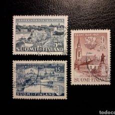 Sellos: FINLANDIA. YVERT 356/8. SERIE COMPLETA USADA. FUNDACIÓN TRES CIUDADES.. Lote 197076203