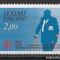 Sellos: FINLAND 1990 MNH DISABLED VETERAN'S ASSOC., 50TH - 1/2. Lote 142958334