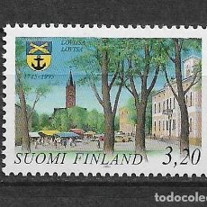 Sellos: FINLAND 1995 MNH TOWN OF LOVIISA, 250TH ANNIV. - 1/2. Lote 142958414