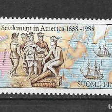 Sellos: FINLAND 1988 MNH SETTLEMENT OF NEW SWEDEN IN AMERICA, 350TH - 1/2. Lote 142958490