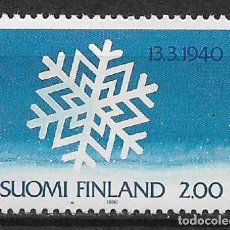 Sellos: FINLAND 1990 MNH END OF THE WINTER (RUSSO-FINNISH) WAR, 50TH ANNIV - 1/2. Lote 142958606