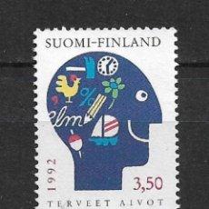 Sellos: FINLANDIA 1992 CIENCIA Y TECNOLOGÍA ** MNH - 1/2. Lote 142958838