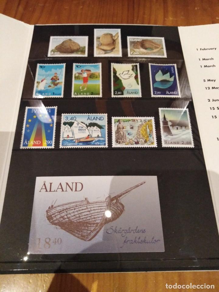 CARPETA DE LAS ISLAS ALAND (Sellos - Extranjero - Europa - Finlandia)