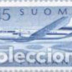 Sellos: SELLO USADO DE FINLANDIA, CORREO AEREO YT 6. Lote 145600650