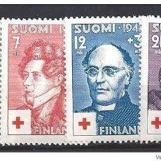 Sellos: SELLOS USADOS DE FINLANDIA, YT 334/ 37. Lote 146141350