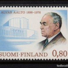 Sellos: FINLANDIA 760** - AÑO 1976 - PERSONALIDADES - ALVAR AALTO, ARQUITECTO. Lote 146388638
