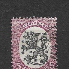Sellos: FINLANDIA 1917-29 SC 107A USED - 3/16. Lote 148084638