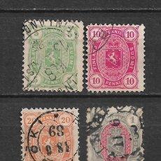 Sellos: FINLANDIA 1885 SC 31/33 - 35 USED - 3/15. Lote 148085786