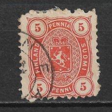 Sellos: FINLANDIA 1875 SC 18 USED - 3/15. Lote 148086242