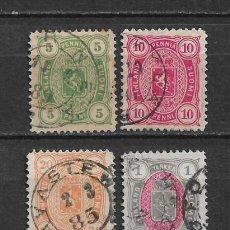 Sellos: FINLANDIA 1885 SC 31/33 - 35 USED - 3/15. Lote 148089426