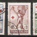 Sellos: FINLANDIA. 1955. YT 430/432. Lote 148907870