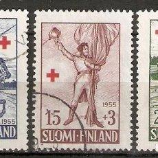 Sellos: FINLANDIA. 1955. YT 430/432. Lote 148908022