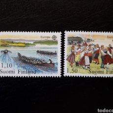 Sellos: FINLANDIA. YVERT 845/6 SERIE COMPLETA NUEVA SIN CHARNELA. EUROPA CEPT. FOLCLORE. BAILES. REMO. Lote 152405997