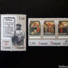 Sellos: FINLANDIA. YVERT 865/6 SERIE COMPLETA NUEVA SIN CHARNELA. EUROPA CEPT. HISTORIA. Lote 152406196