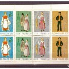 Sellos: FINLANDIA AÑO 1972 YV C674/8*** CARNET - TRADICIONES Y COSTUMBRES (I) - TRAJES REGIONALES - FOLKLORE. Lote 154730798