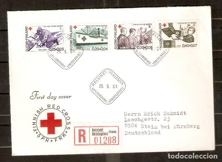 FINLANDIA. 1964. FDC MI 589/92. CRUZ ROJA (Sellos - Extranjero - Europa - Finlandia)
